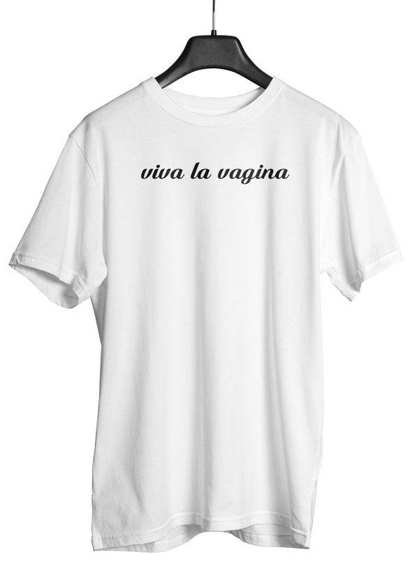viva la vagina shirt herren